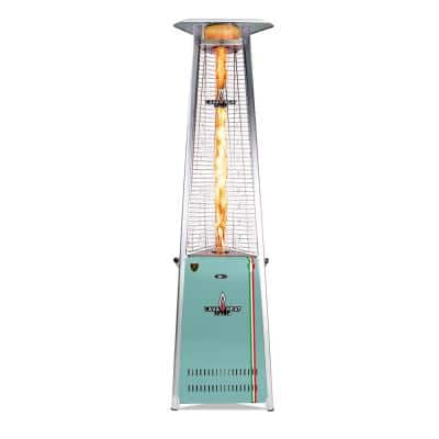 92.5 in. 2G PRO COLORWAYS Triangle Flame Tower Heater 66,000BTU Electronic Ignition Light Green Liquid Propane Assembled