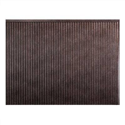 Rib 18.25 in. x 24.25 in. Vinyl Backsplash Panel in Smoked Pewter (5-Pack)