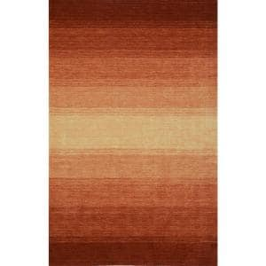 Dunes Wool Ombre Paprika 5 ft. x 7 ft. 3 in. Area Rug