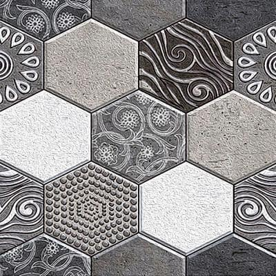3D PVC Peel and Stick Mosaic Tile Sticker, JM516, 12 in. x 12 in. /pc(40pc)