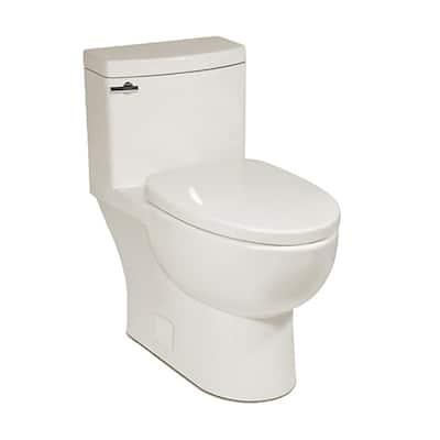 Malibu II 1-piece 1.28GPF Single Flush Compact-Elongated Toilet in Balsa, Seat Included