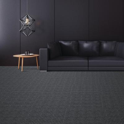 First Impressions Tattersall Olive w/ Blk 24 in. x 24 in. Commercial Peel and Stick Carpet Tile (15-tile / case)