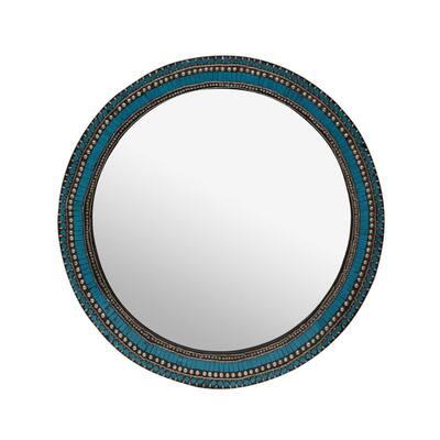30 in. H x 30 in. W Classic Medium Round Blue Classic Mirror