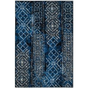 Adirondack Blue/Black 4 ft. x 6 ft. Area Rug