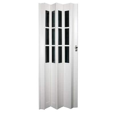 36 in. x 80 in. Devonshire Vinyl White Accordion Door