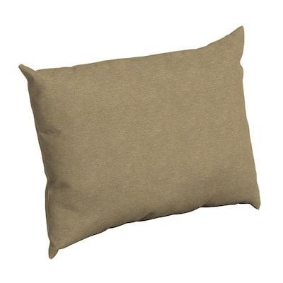 Tan Hamilton Texture Rectangle Outdoor Throw Pillow