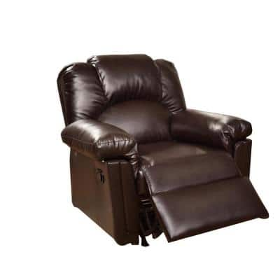 Brown Bonded Leather Rocker/Recliner