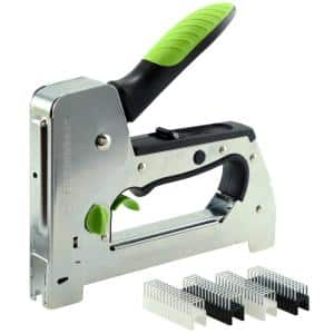 Heavy-Duty Triggerfire Cable Tacker Secures Low Voltage Coax/Ethernet Cable-UL Listed Insulated Staples Included