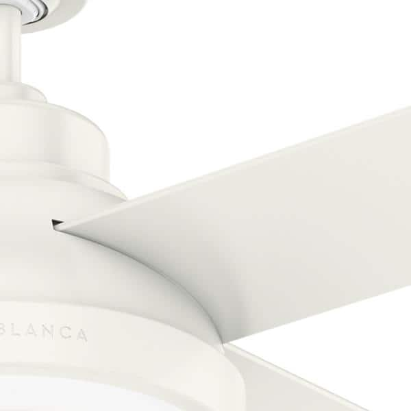 Casablanca Casablanca S Levitt 44 In Fresh White Ceiling Fan With Led Lighting 59434 The Home Depot
