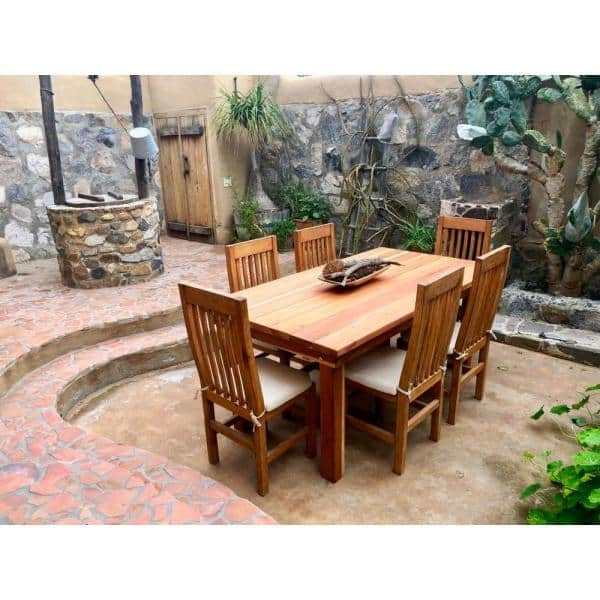 Best Redwood Farmhouse 10 Ft Redwood Outdoor Dining Table Fdt 31h38w120l 1910 The Home Depot