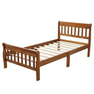 William S Home Furnishing Colin Twin Bed In Dark Oak Finish Cm7909a P T Bed The Home Depot