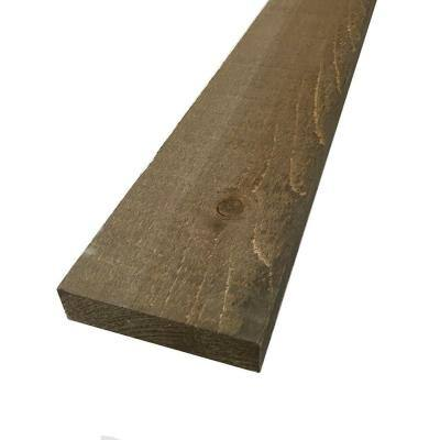 IRVING 1 in. x 4 in. x 8 ft. Barn Wood Pine Board Driftwood Brown (6 Per Box)