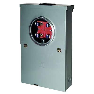 Homeline 100 Amp 10-Space 20-Circuit Outdoor Ring-Type Overhead Main Breaker CSED