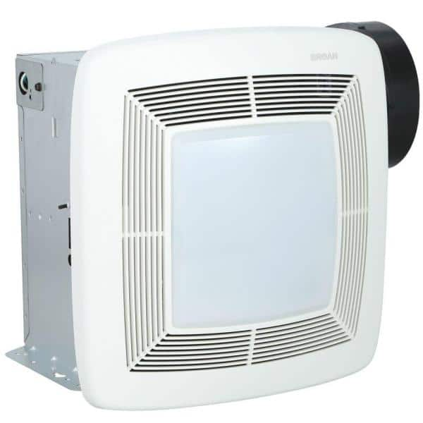 Broan Nutone Qt Series Quiet 150 Cfm Ceiling Bathroom Exhaust Fan With Light And Night Light Energy Star Qtxe150flt The Home Depot