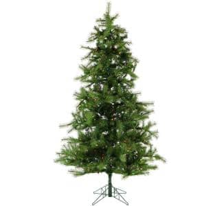 7 ft. Pre-lit LED Southern Peace Pine Artificial Christmas Tree with 600 Multi-Color String Lights