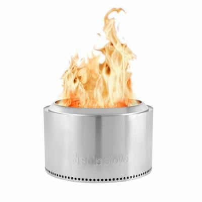 Yukon 27 in. Round Stainless Steel Wood Burning Fire Pit