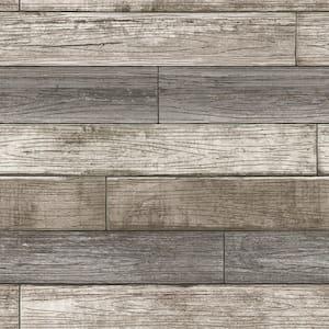 Reclaimed Wood Plank Natural Vinyl Peel & Stick Wallpaper Roll (Covers 30.75 Sq. Ft.)