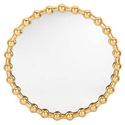 Eden 25 in. x 25 in. Iron Round Framed Mirror
