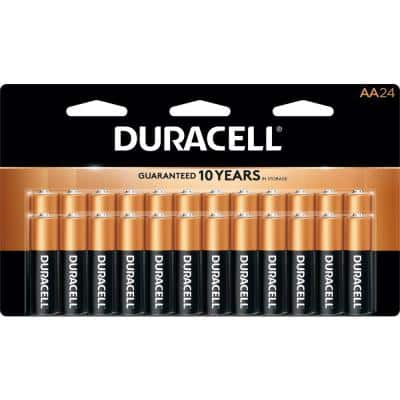 Coppertop AA and AAA Alkaline Battery Assortment Pack (24-Count, 2-Pack)