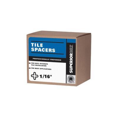 SuperiorBilt 1/16 in. Regular Tile Spacer Box (300 pack)