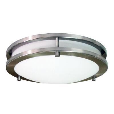 Saturn Brushed Nickel LED Flush Mount