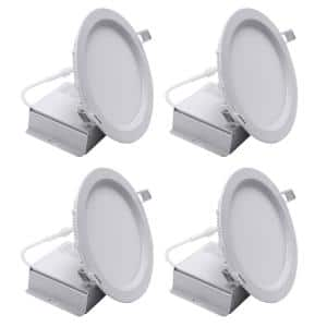 6 in. Housing Required 5000k Tunable CCT New Construction Integrated LED Recessed Light Kit with White Trim