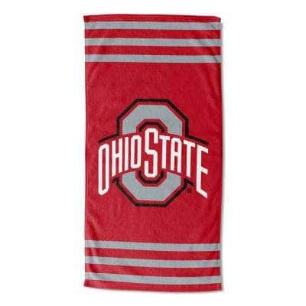 Ohio State Stripes Multi Colored Beach Towel