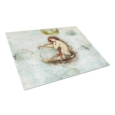 Mermaids and Mermen Tempered Glass Large Cutting Board