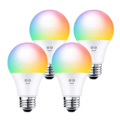 60-Watt Equivalent Prisma Plus 800 A19 Dimmable and Tunable White Smart LED Light Bulb Multi-Color 2700-6500K (4-Pack)
