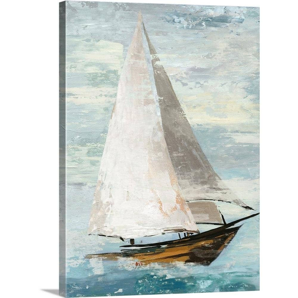 Greatbigcanvas Quiet Boats Ii By Allison Pearce Canvas Wall Art 2441599 24 18x24 The Home Depot