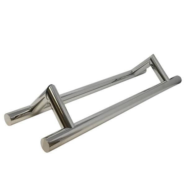 Strongar 16 In Offset Ladder Style Back To Back Polished Stainless Steel Door Pull Handleset For Easy Installation Olp P 16 1250 The Home Depot