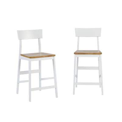 Christy Light Oak and White Counter Chairs (2-Count)
