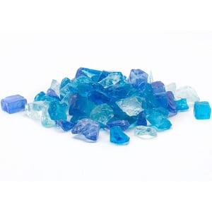1/2 in. 25 lb. Medium Blue Hawaii Landscape Fire Glass