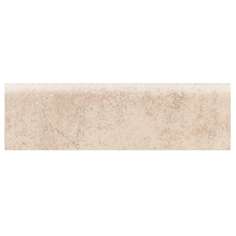 Daltile Briton Bone 3 In X 12 In Ceramic Bullnose Floor And Wall Tile 0 25702 Sq Ft Piece Bt01p43c9cc1p2 The Home Depot