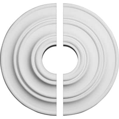 13-1/4 in. x 3-1/2 in. x 1/2 in. Classic Urethane Ceiling Medallion, 2-Piece (Fits Canopies up to 4-1/8 in.)