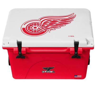 40 QT Cooler Red/White - Detroit Red Wings