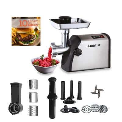 4-in-1 Electric 1800-Watt Meat Grinder and Food Processor