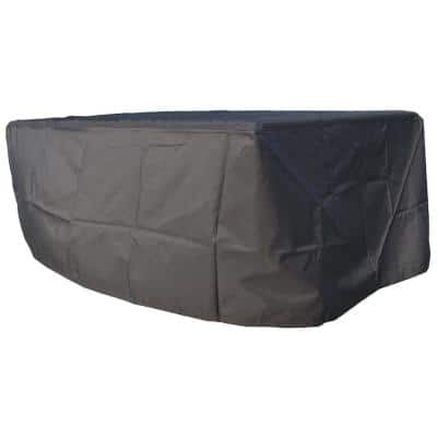 Outdoor 77 in. x 51 in. x 30 in. Black Rectangular Patio Dining and Sofa Set Cover