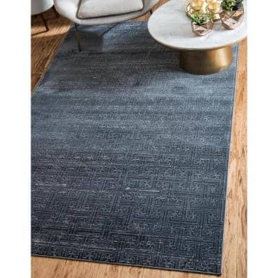 Uptown Collection Park Avenue Navy Blue 9' 0 x 12' 0 Area Rug