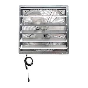 4244 CFM Silver Electric Powered Gable Mount Shutter Fan/Vent