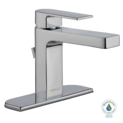 Xander Single Hole Single-Handle Bathroom Faucet in Chrome