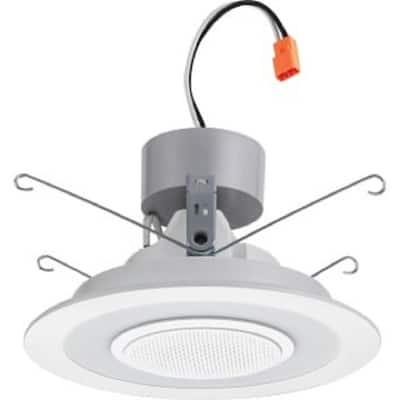 6SL Speaker Light 6 in. White Integrated LED Recessed Trim