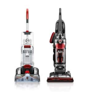 SmartWash Advanced Upright Carpet Cleaner and Max Performance Pet Bagless Upright Vacuum Cleaner