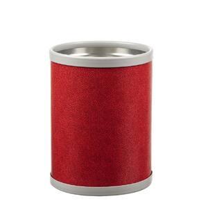 8 qt. Rocks Red Round Waste Basket