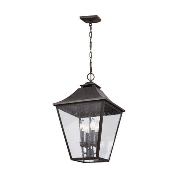 Feiss Galena Sable 4 Light Outdoor Hanging Lantern Ol14408sbl The Home Depot