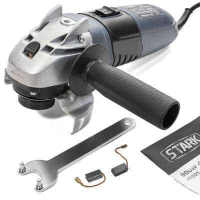 8.2 Amp Corded Electric 4-1/2 in. Angle Grinder with 11000 RPM Sliding Lock-On Switch