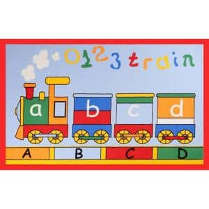Fun Time AbcTrain Multi 3 ft. x 5 ft. Area Rug