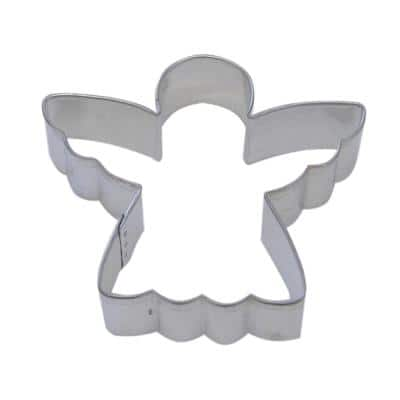 12-Piece 3 in. Angel Tinplated Steel Cookie Cutter and Cookie Recipe