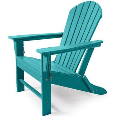 Blue Folding Plastic Adirondack Chair