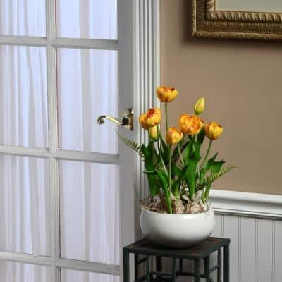 16.5 in. Yellow Tulip Flowers
